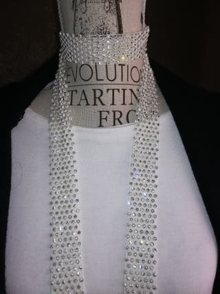 cinta strass..para collar,corbata..