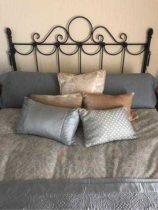 Cabecero cama +2 lámparas