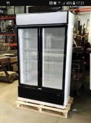 armario refrigerado 2puertas vitrina nevera