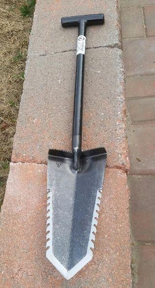 pala de acero detección metálica