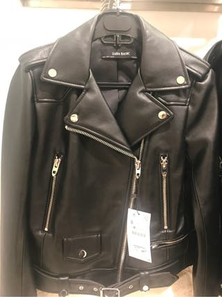 Black leather jacket Zara