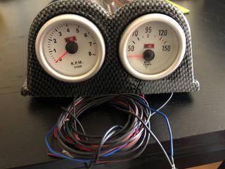 Tacometro y termometro racing