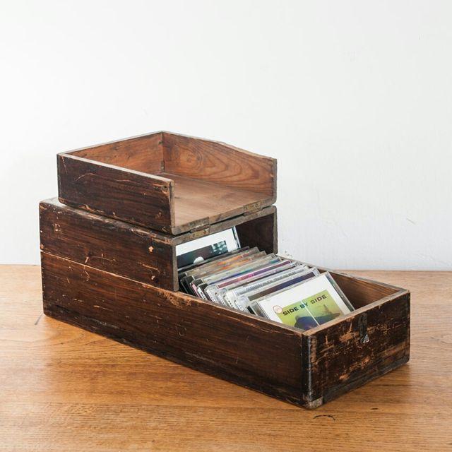 Caja madera vintage industrial perfecta para cd de segunda mano por 46 en barcelona en wallapop - Cajas madera barcelona ...