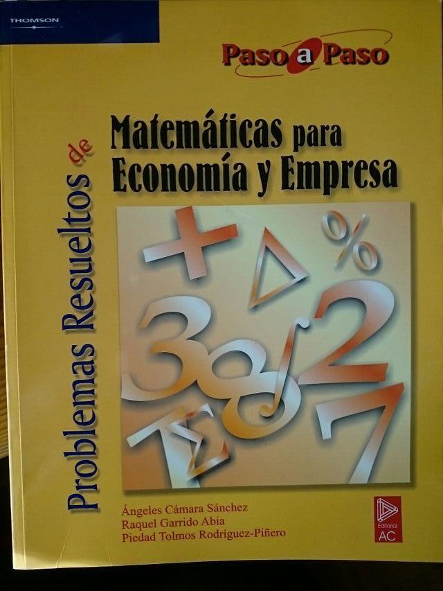 Libro nuevo Matemáticas para economía y empresa