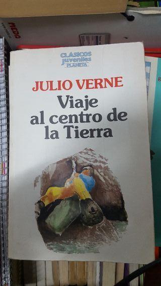 """libro de lectura """"Viaje al centro de la tierra"""""""