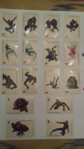 Spider-man Cromos luminiscentes(adhesivos).