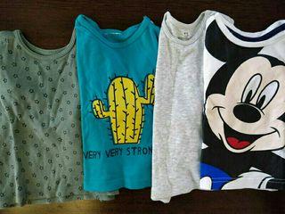 4 camisetas talla 6 meses -9 meses