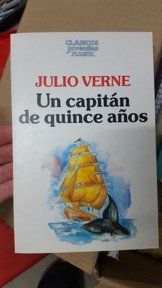 """libro de lectura """"Un capitán de quince años"""""""