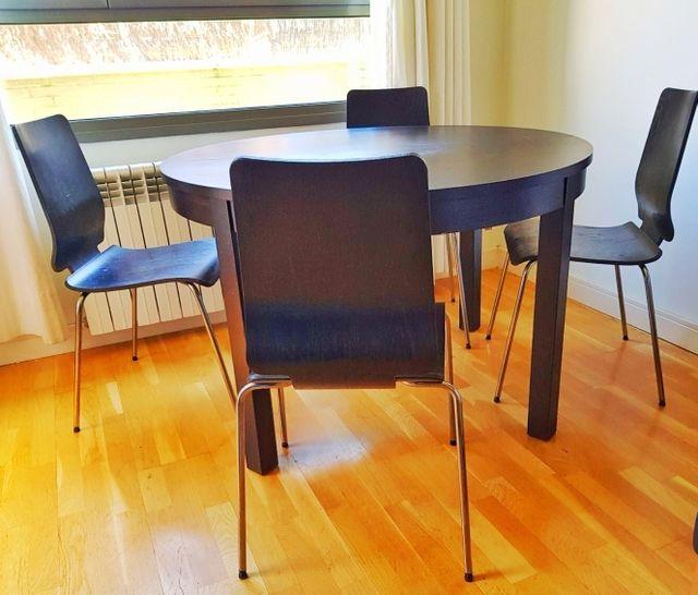 Conjunto comedor. Mesa y 4 sillas IKEA de segunda mano por 119 € en ...