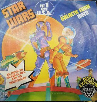 """DISCOS VINILO single 45rpm """" Star Wars"""""""