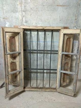 Ventana de madera antigua de segunda mano en wallapop - Garajes de madera de segunda mano ...