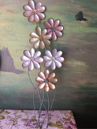 Adorno flores metal
