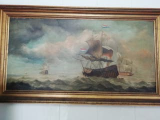 Cuadro lienzo Batalla de Trafalgar