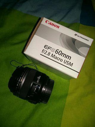 Objetivo Canon EFS60mm