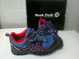 zapatillas monte goretex talla 33