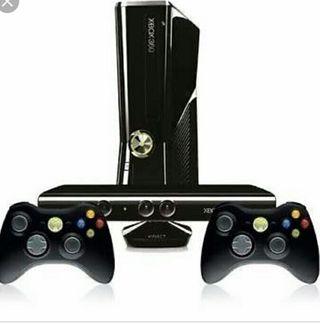 Xbox 360+kineckt+dos mandos+juegos