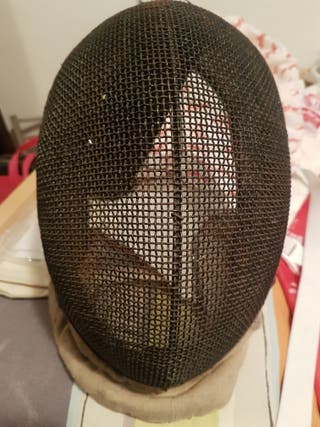 Máscara esgrima antigua