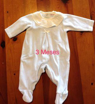 Ropa bebé, pijama con cuello