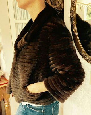 chaqueta de vison