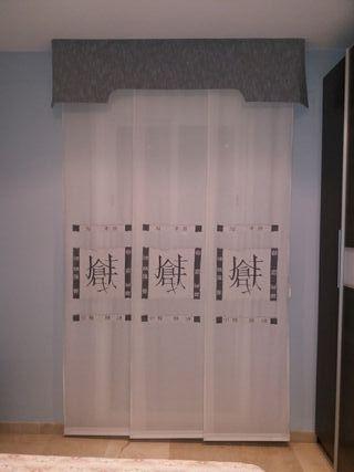 panel japonés más doble barra más volante