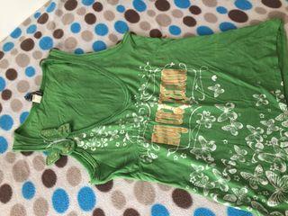 Camiseta verde mujer ,tirantes
