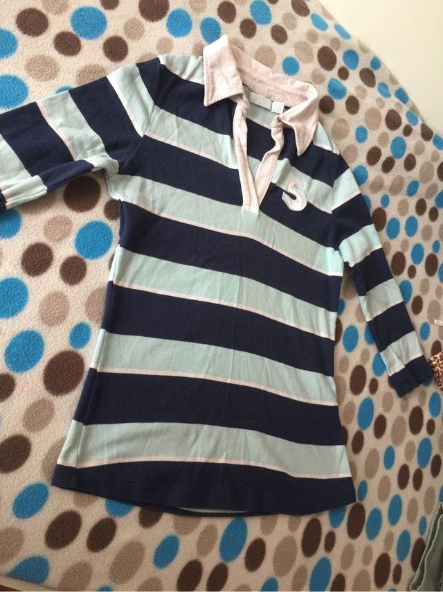 Camiseta rallas azules
