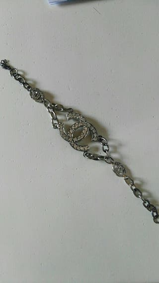 pulsera chanel plata