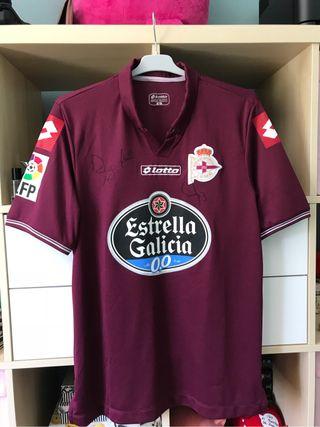 Camiseta Deportivo firmada