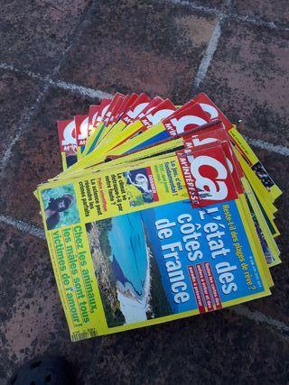 26 revistas en Frances Ca m'interesse.