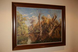 Oleo de Raul Dominguez, el pintor de las islas