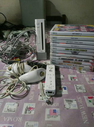 Wii con 10 juegos