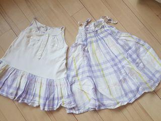 Burberry vestidos 18-24 meses gemelos