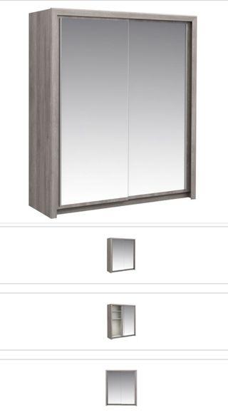 Armario puertas correderas 182 cm