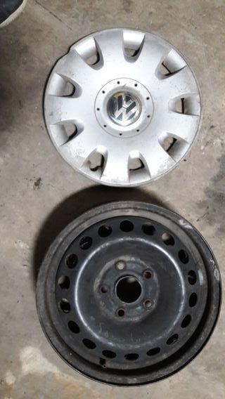 """llantas Volkswagen 15"""" hierro"""