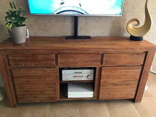 Conjunto salon madera
