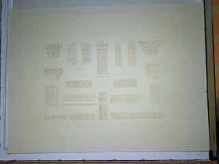Lámina antigua decoración arquitectura