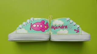 zapatillas bebe personalizadas pintadas a mano