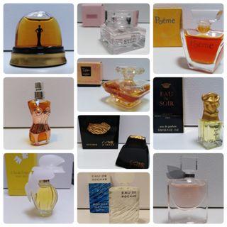 Miniaturas Perfume originales. Varios precios.