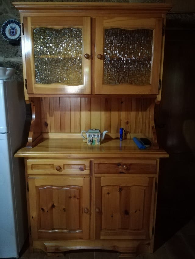 Mueble de madera para cocina de segunda mano por 195 en vigo en wallapop - Muebles segunda mano vigo ...