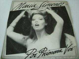 """MARIA JIMÉNEZ -.POR PRIMERA VEZ- VINILO SINGLE 7""""."""