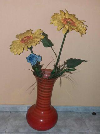 Gran jarrón decorativo de cristal