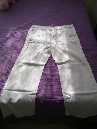 pantalón lino mujer