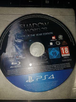 juego shadow mordor ps4
