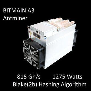 Antminer A3 de Bitmain minero