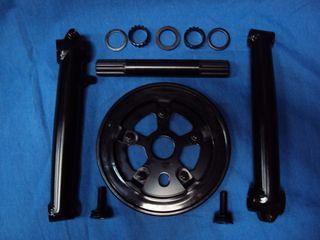 NUEVO Bielas 3 piezas MTB Dirt Trial BMX Bicicleta