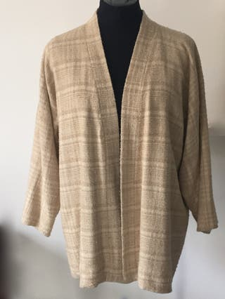 Veste kimono bourette de soie sauvage T. 38