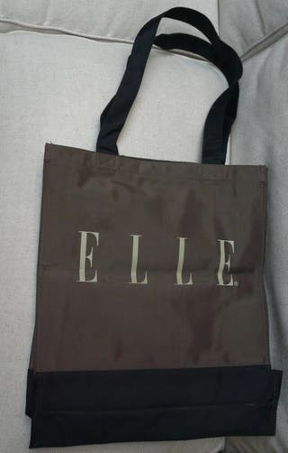 Sac Cabas / Shopping ELLE® chocolat/noir Collector