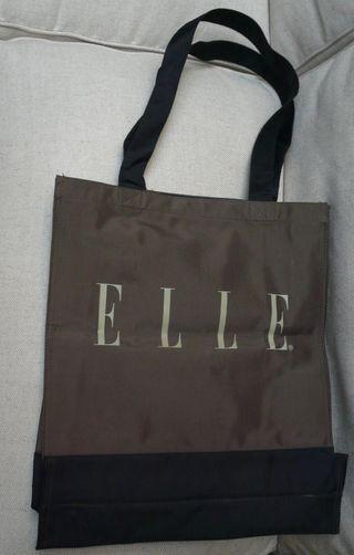 shopping bag collecter ELLE® tela chocolate negro