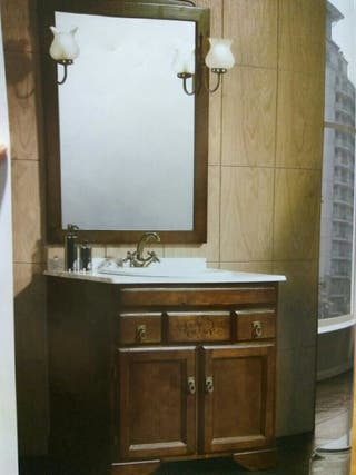 Mueble de baño rústico de 80 cms