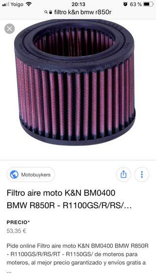 Filtro k&n bmw r850r r1150r